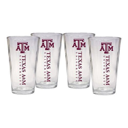 Texas A&M Aggies 4-Piece Pint Glass Set