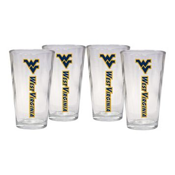 West Virginia Mountaineers 4-Piece Pint Glass Set