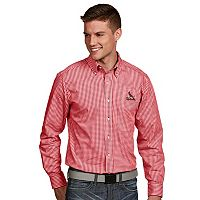 Men's Antigua St. Louis Cardinals Associate Plaid Button-Down Shirt