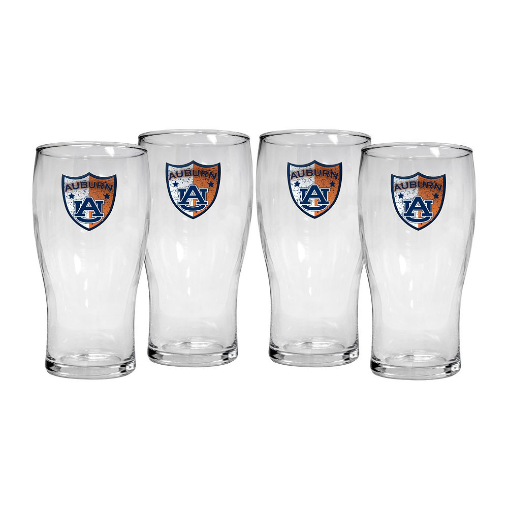 Auburn Tigers 4-Piece Pilsner Glass Set