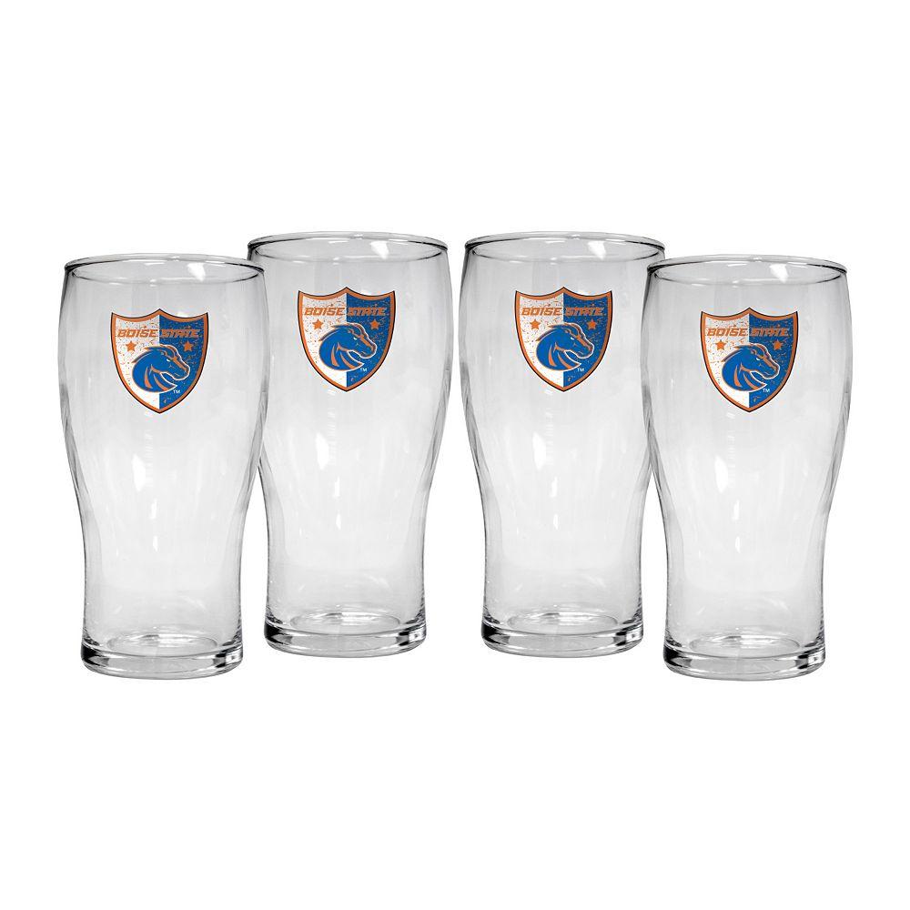Boise State Broncos 4-Piece Pilsner Glass Set