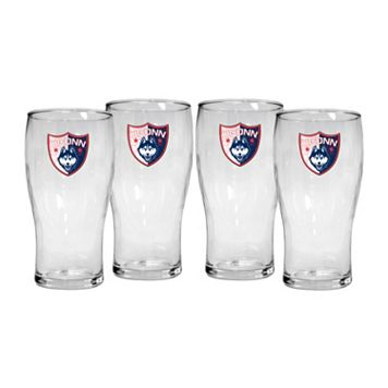 UConn Huskies 4-Piece Pilsner Glass Set