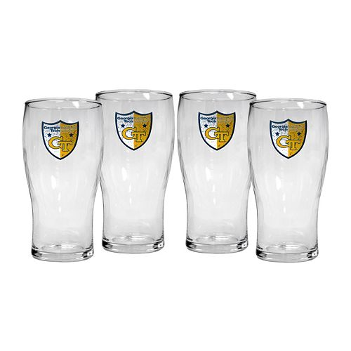 Georgia Tech Yellow Jackets 4-Piece Pilsner Glass Set