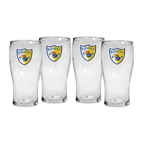 Kansas Jayhawks 4-Piece Pilsner Glass Set