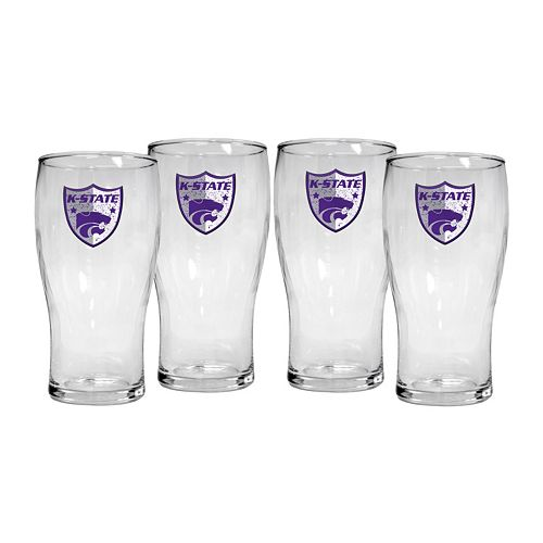 Kansas State Wildcats 4-Piece Pilsner Glass Set