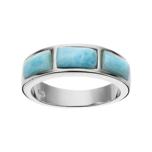 Sterling Silver Larimar Ring