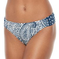 Women's Pink Envelope Paisley Scoop Bikini Bottoms
