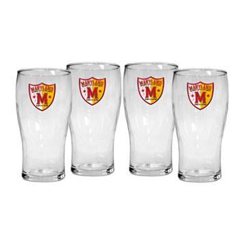 Maryland Terrapins 4-Piece Pilsner Glass Set