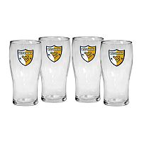 West Virginia Mountaineers 4-Piece Pilsner Glass Set