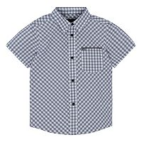 Boys 4-7 Hurley Athletic Short Sleeve Woven Checkered Plaid Shirt