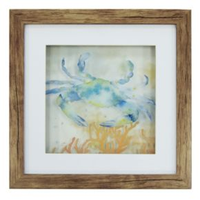 New View Blue Crab Framed Wall Art