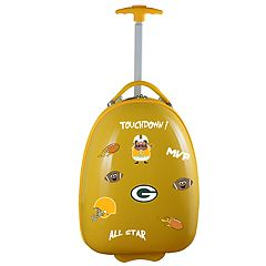 Children's Green Bay Packers Hardshell Wheeled Luggage Pod