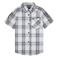 Boys 4-7 Hurley Plaid Button Down Shirt