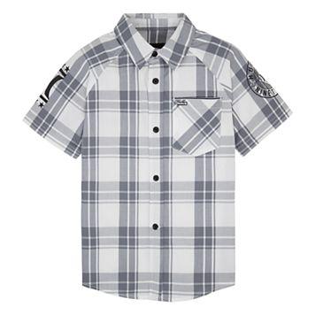Boys 4-7 Hurley Plaid Button Down Shirt