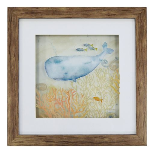 New View Blue Whale Framed Wall Art