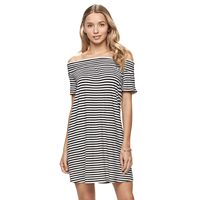 Juniors' SO® Off The Shoulder Swing Dress
