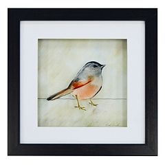 New View Red Bird Framed Wall Art