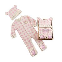 Baby Aspen Pink Plaid Fleece Pajama Gift Set