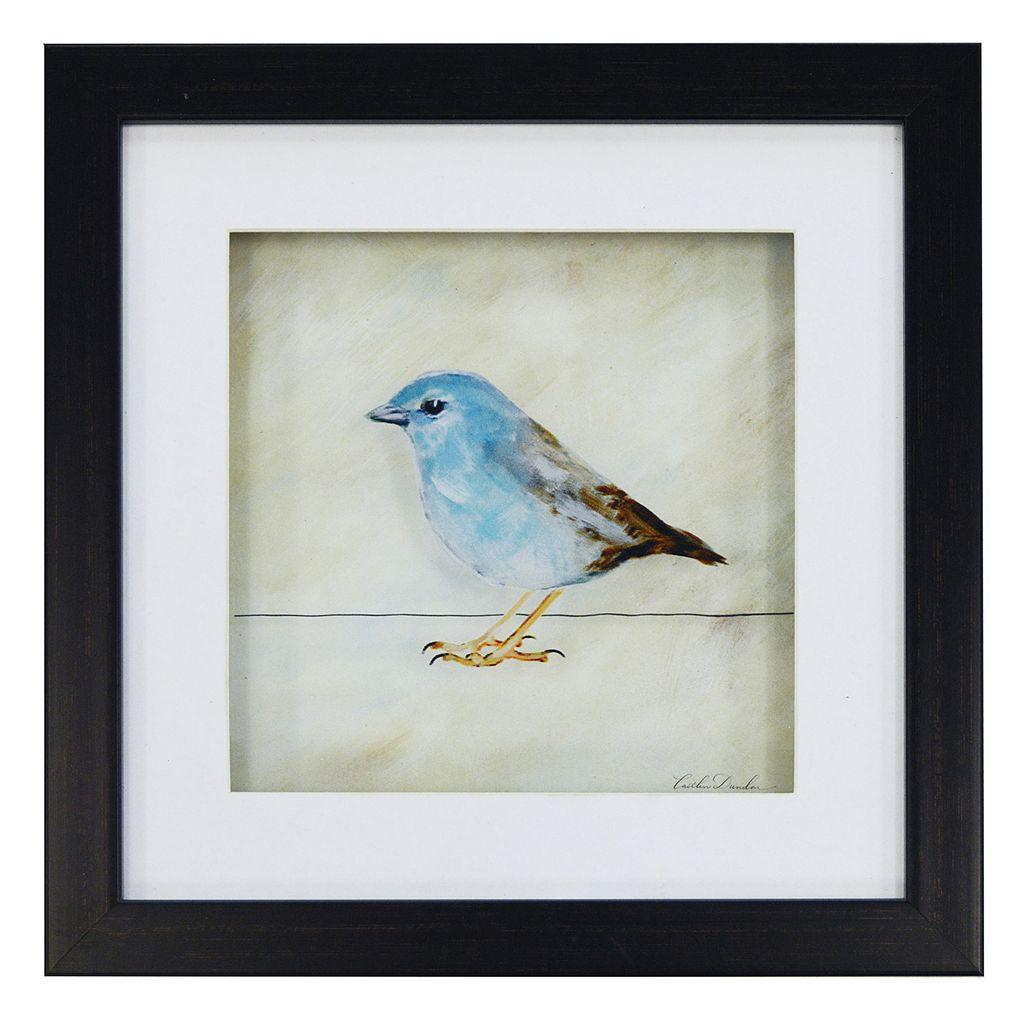 New View Blue Bird Framed Wall Art