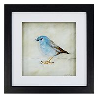 New View Blue Bird Framed Wall Art