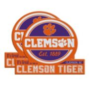 Clemson Tigers Jumbo Tailgate Magnet 2-Pack