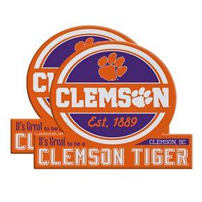 Clemson Tigers Jumbo Tailgate Magnet 2-Pack