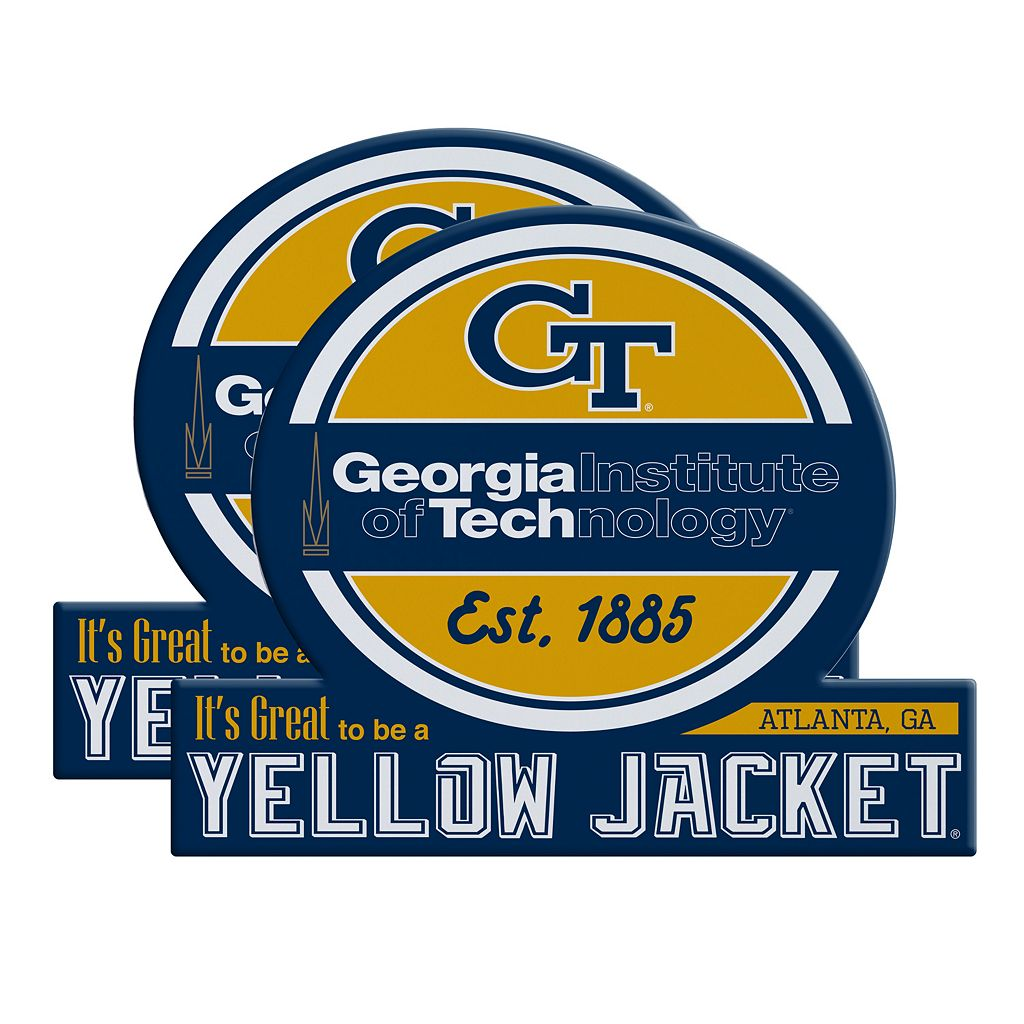 Georgia Tech Yellow Jackets Jumbo Tailgate Magnet 2-Pack