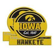 Iowa Hawkeyes Jumbo Tailgate Magnet 2-Pack