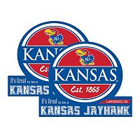 Kansas Jayhawks Jumbo Tailgate Magnet 2-Pack