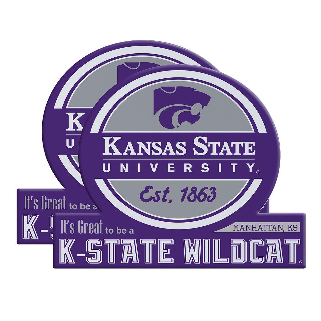 Kansas State Wildcats Jumbo Tailgate Magnet 2-Pack