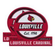 Louisville Cardinals Jumbo Tailgate Magnet 2-Pack