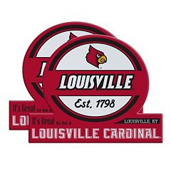 Louisville Cardinals Jumbo Tailgate Magnet 2-Pack