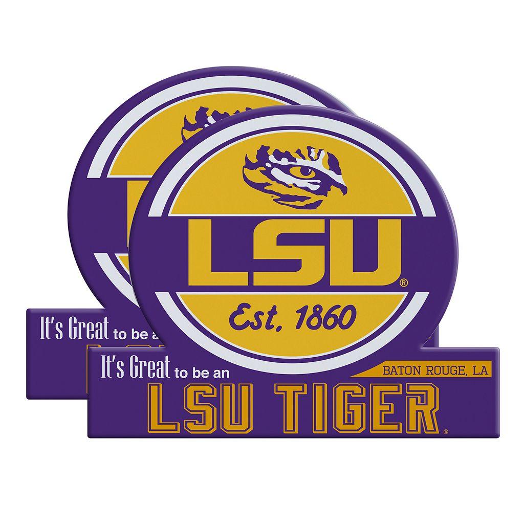 LSU Tigers Jumbo Tailgate Magnet 2-Pack