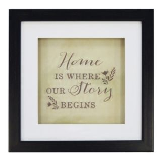 "New View ""Home"" Framed Wall Art"