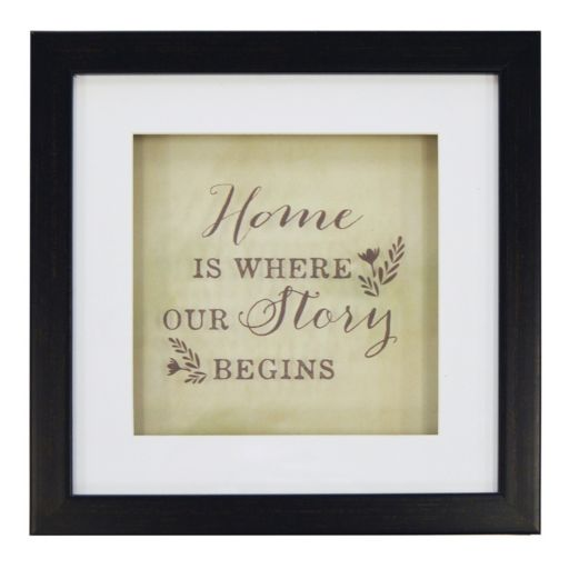 """New View """"Home"""" Framed Wall Art"""