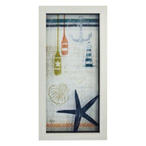 New View Nautical Starfish Framed Wall Art