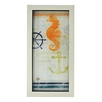 New View Nautical Seahorse Framed Wall Art
