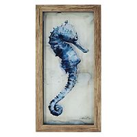 New View Blue Seahorse Framed Wall Art