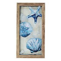 New View Blue Shells Framed Wall Art