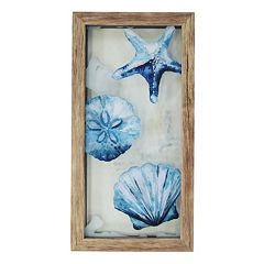 New View Blue Shells Framed Wall Art