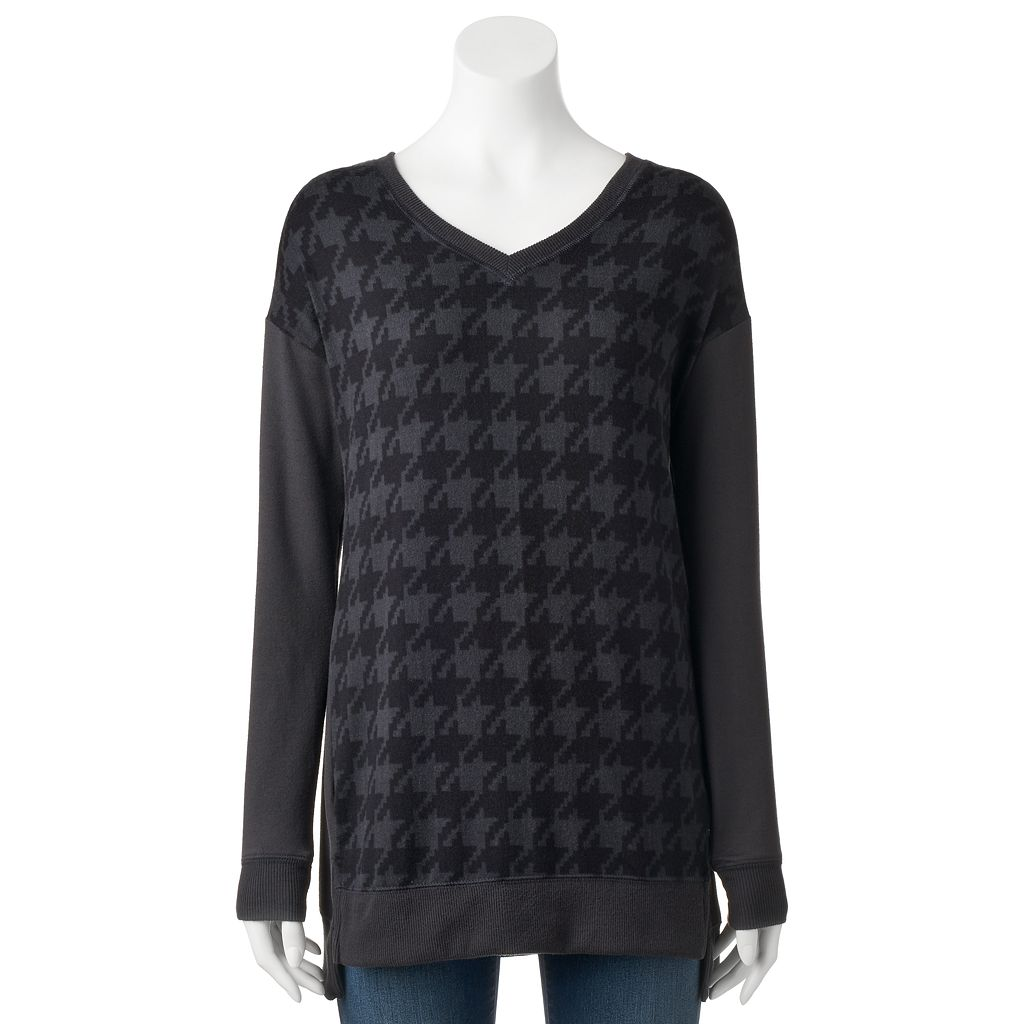 Women's French Laundry Houndstooth High-Low Hem Tunic