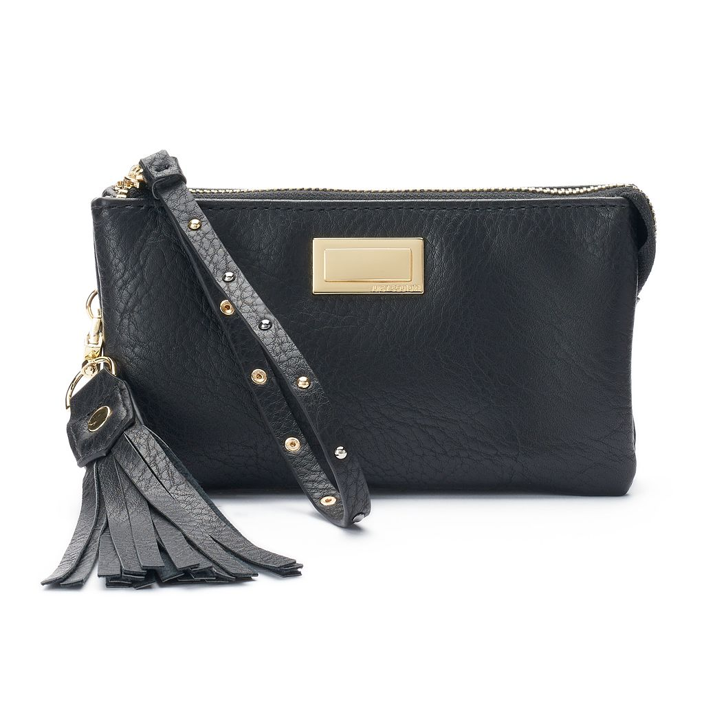 Juicy Couture Therese Studded Tassel Wristlet