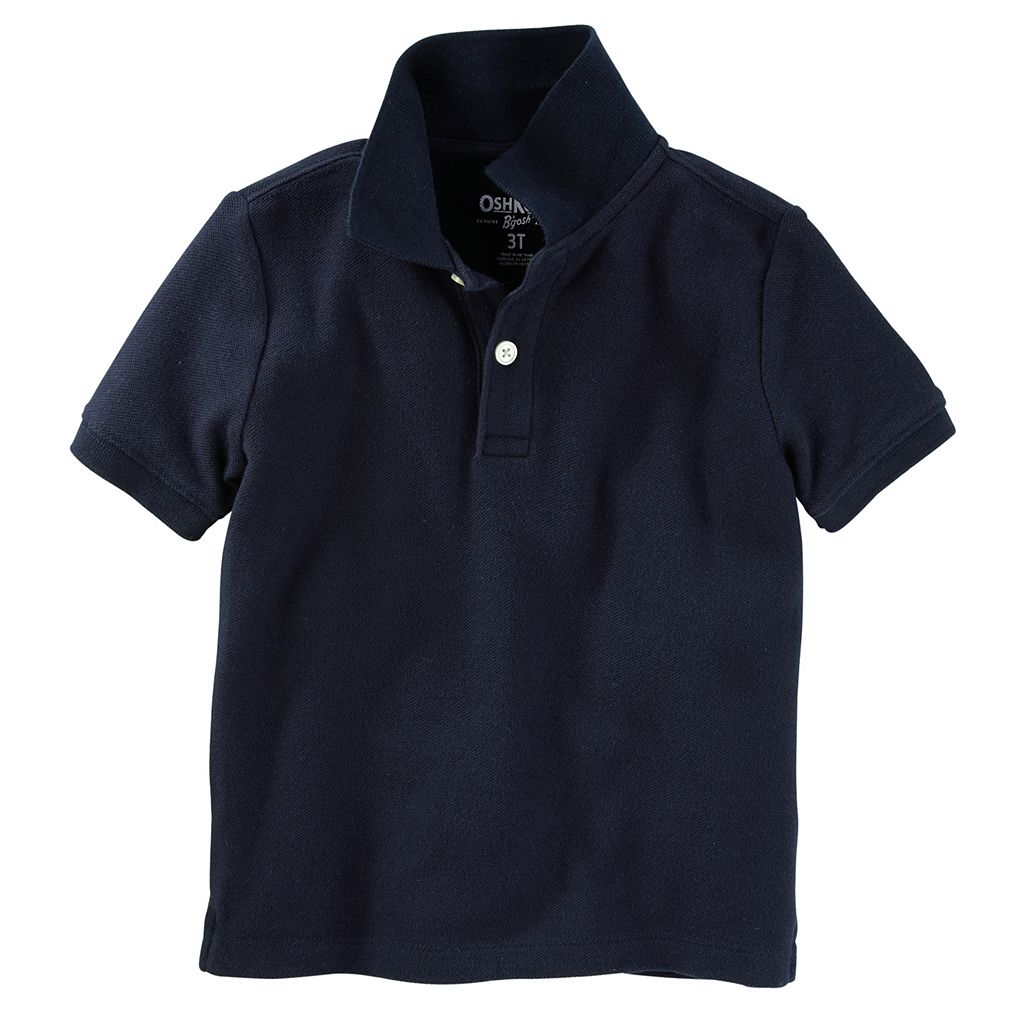 Toddler Boy OshKosh B'gosh® Solid Short Sleeve Pique Polo Shirt