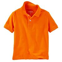 Toddler Boy OshKosh B'gosh® Solid Short Sleeve Pique Polo Shirt