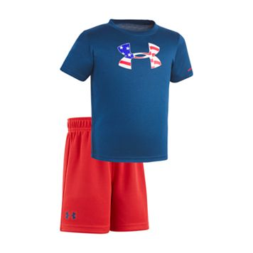Baby Boy Under Armour USA Logo Graphic Tee & Shorts Set
