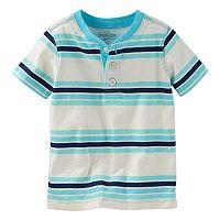 Toddler Boy OshKosh B'gosh® Striped Short Sleeve Henley Tee