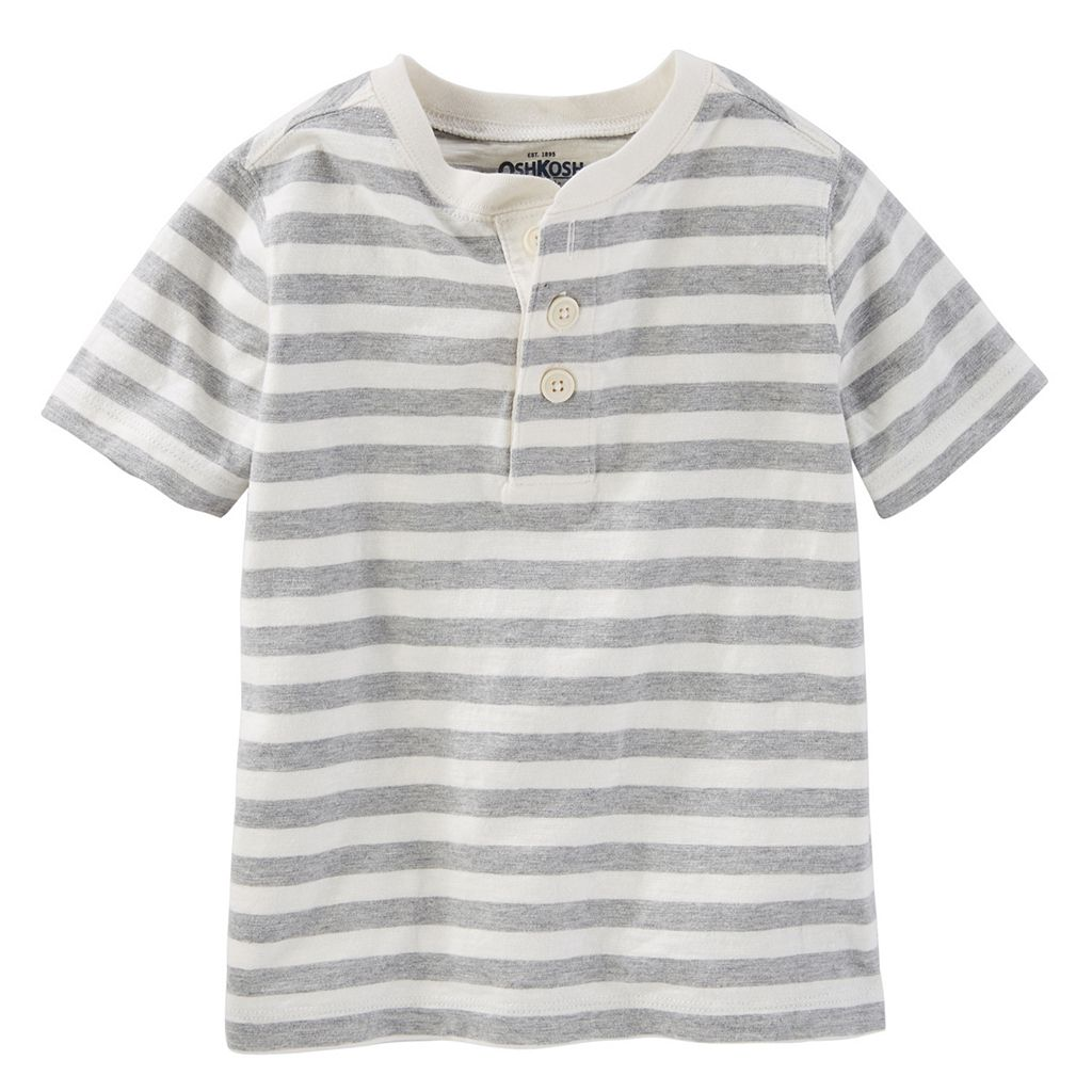 Toddler Boy OshKosh B'gosh® Striped Short Sleeve Henley Tee