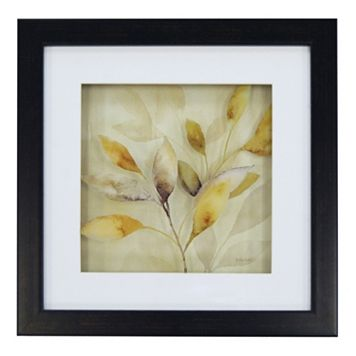 New View Gray & Yellow Leaves 1 Framed Wall Art