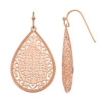 LC Lauren Conrad Openwork Filigree Teardrop Earrings