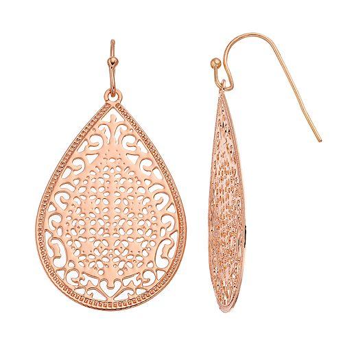 LC Lauren Conrad Openwork Filigree Teardrop Earrings
